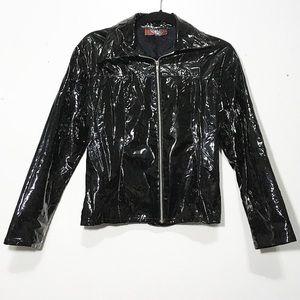 🌼 Vintage Vinyl/Faux Patent Leather Jacket 🌼
