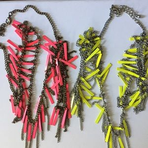Two neon necklaces