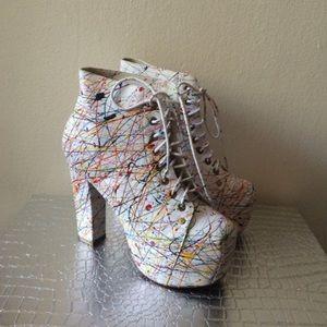 Lita Splatter booties