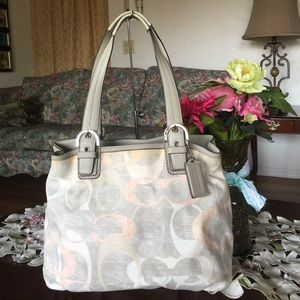 Coach Soho Optic Linen North South Tote