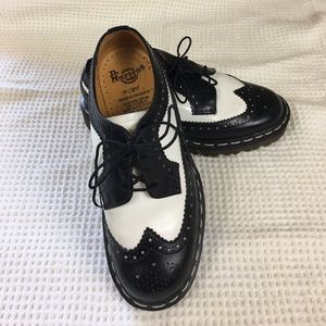 Dr. Martens Brogue Shoes Sz 4 Black and White
