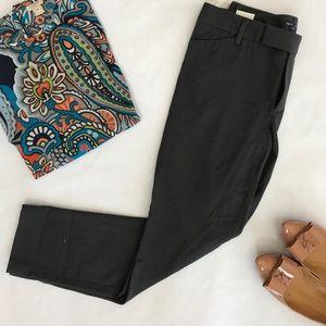 NWT Gap skinny stretch ankle pants. Grey. Sz 6