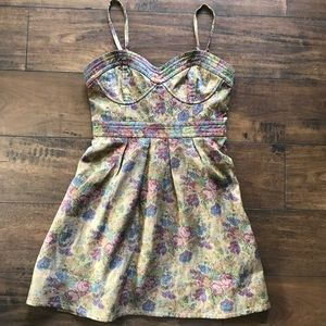 Free People Floral Tapestry Lined Dress