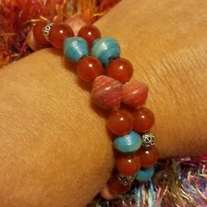 Handmade Beaded Bracelet and Necklace