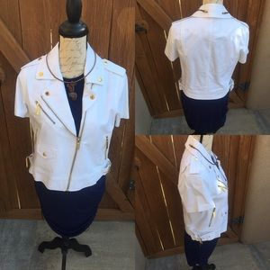 Jackets & Blazers - Michael Kors White Short Sleeve Jacket