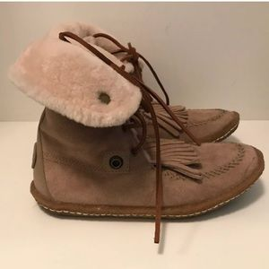 Tory Burch Lido Shearling Moccasin Booties 8