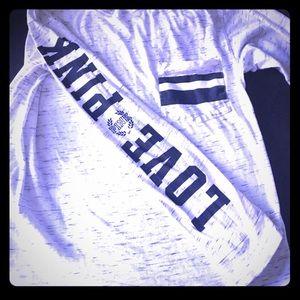 Long sleeve grey Victoria secret pink t shirt