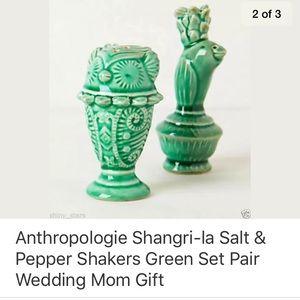 Anthropologie Shangri-la Salt + Pepper Shaker Set