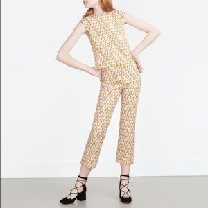 NWT Zara Floral Pants
