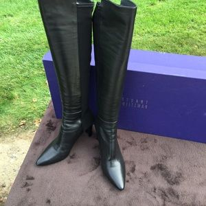 Stuart Weitzman Demivoom Leather over knee boots