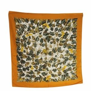 Hermes Green & Orange Silk Scarf (135511)