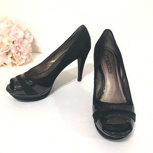 Black Velvet & Sparkle Heels