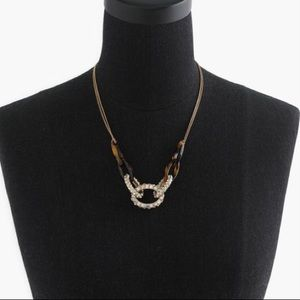J. Crew Women's Pavé Tortoise Link Necklace