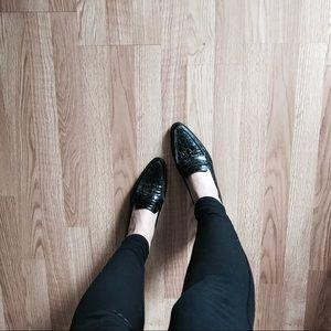 Stuart Weitzman Croc Heels