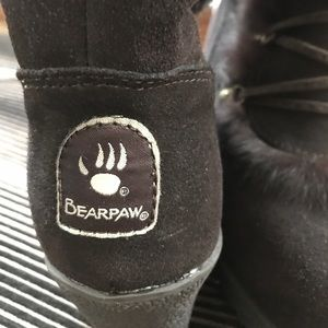 BearPaw Tall Furry Boots