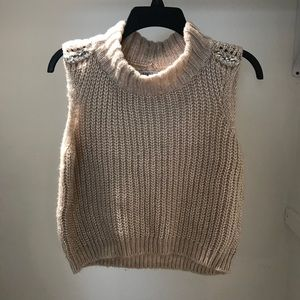 J. Lo Blush Pink Sleeveless Sweater