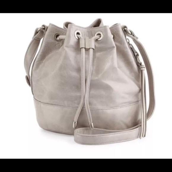 f07e66340f4 HOBO Bags   Tulia Cloud Gray Drawstring Bucket Bag   Poshmark