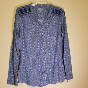 LIKE NEW Ruff Hewn printed blouse