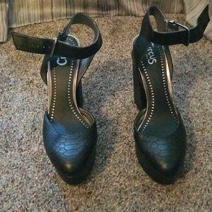 Black thick heels