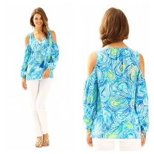 🆕{Listing} Lilly Pulitzer Finch Open Shoulder Top