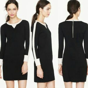 j crew knit sweatshirt dress black pink10