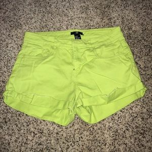 h&m lime green shorts size 6