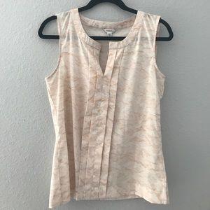 Calvin Klein sleeveless pink work blouse top