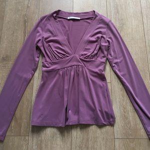 Susana Monaco purple long sleeve blouse