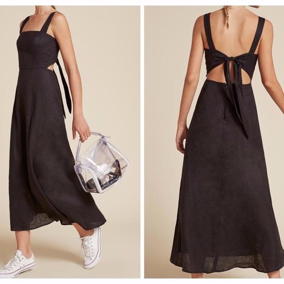 dca32410b7 NWOT Reformation Pomelo Linen Open Back Maxi Dress.  M_59e8ee52bcd4a754f30df760