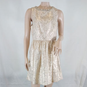 Urban Outfitters Cooperative Holiday Brocade Dress