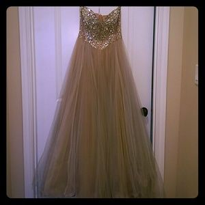 Sherri Hill Crystal Beaded Gown