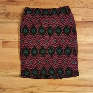 Embroidered Tribal Pencil Skirt from Ann Taylor