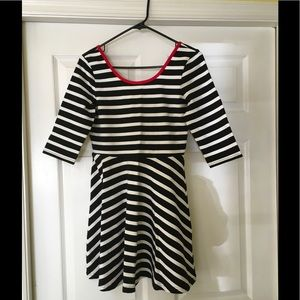 Express black and white dress -size L