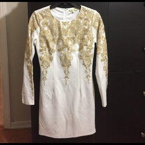 Gianni Bini White & Gold Cocktail dress