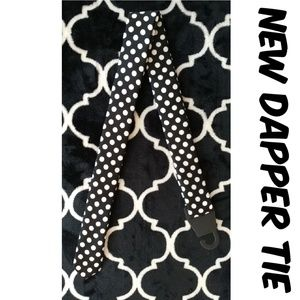 Polka Dot Dapper Day Tie 1950s Pin Up Black