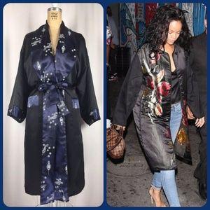 Vintage Japanese Reversible Kimono Dressing Gown