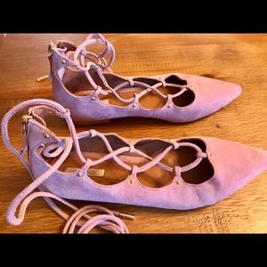 H&M pointed toe lace up flats