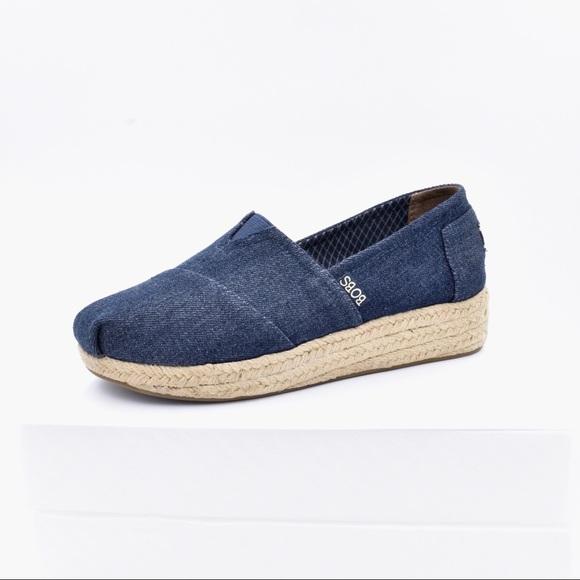 Bobs By Skechers Denim Slip On Shoes