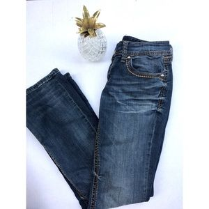 7 For All Mankind Bootcut Jeans Thrded Back Pocket