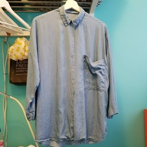 Zara TRF Faux Denim Tunic