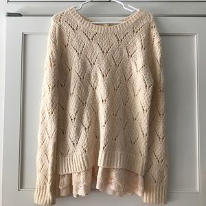 Sweaters - Women's sweater with lace detail