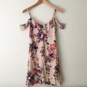Ruffle Shoulder Floral Dress