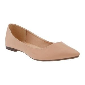 Nude Pointed Ballet Flat