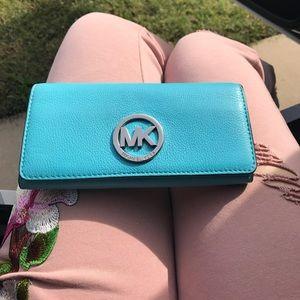 Light blue micheal Kors large wallet