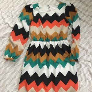 Chevron multi color dress