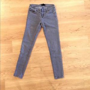 Gray jean leggings
