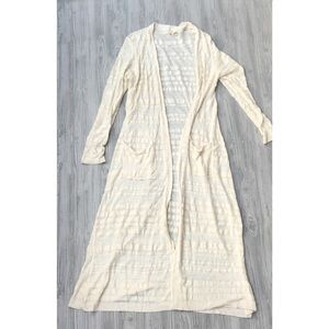 Moth by Anrhro M ivory duster cardigan