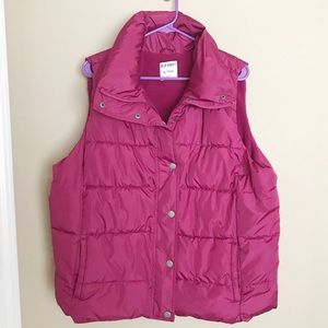 Plus Size Old Navy Pink Puffer Vest