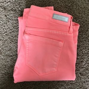 BlankNYC bright pink/coral jeans