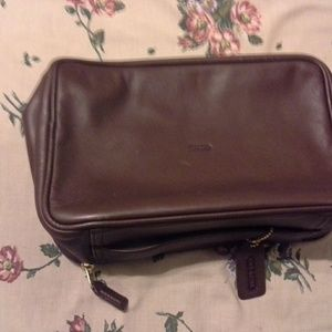 Coach cosmetic/shaving kit bag
